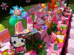 birthday party themes for girls kitty