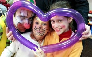 hire a clown for a party with kids face painting
