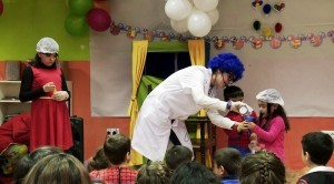 hire clowns for birthday science show