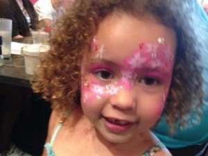 themed facepainting for kids' parties princesses