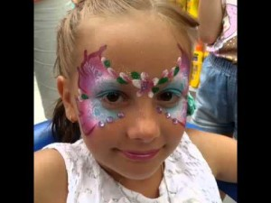 themed facepainting for kids' parties faries