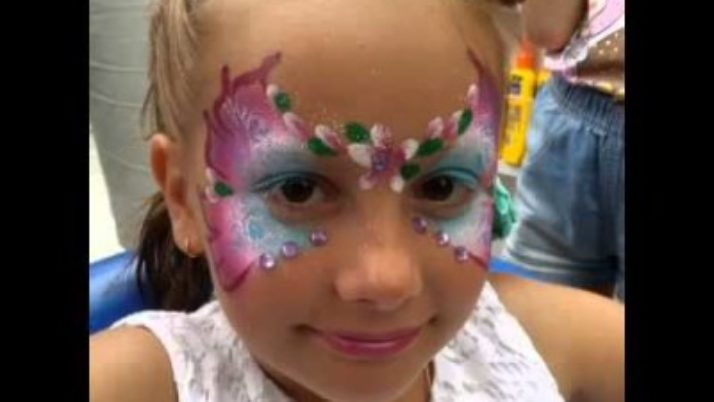 Themed facepainting for kids' parties