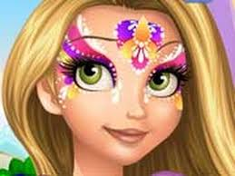 themed facepainting for kids' parties princess