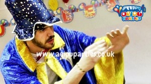 Hire magician Halloween kids party